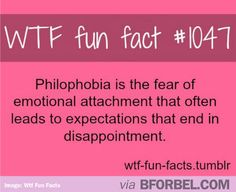 Fun Fact Friday: The Fear of Disappointment. #phobia