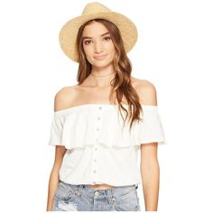 Free People Love Letter Tube Top (Ivory) Women's Sleeveless (76 AUD) ❤ liked on Polyvore featuring tops, off shoulder tops, white tube top, off shoulder crop top, short sleeve crop top and white top