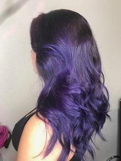 Boys Dyed Hair, Short Dyed Hair, Half Dyed Hair, Dyed Hair Purple, Thick Curly Hair, Long Hair Cuts, Ombre Hair, Dark Purple Hair, Hair Color Purple