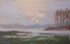 Autumn Morning    by Ruth Mann   Pastel 8 inches x 11 inches