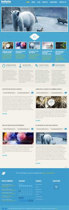 Creative portfolio and blog style premium WordPress theme from Themes Kingdom