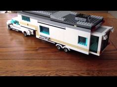 You won't believe some of the creations that RV enthusiasts come up with while working with LEGOs. Some wonderful examples of amazing LEGO RV designs. Lego Camper, Lego Ambulance, Lego City Police, Lego Technic Truck, Lego Truck, Lego Space Sets, Lego Sets, Legos, Fifth Wheel Campers