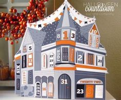 Halloween Countdown House Papercraft Project - by Kiki Company