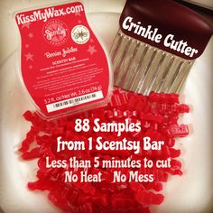 Simple and effective way to make Scentsy scent samples. No heat, no mess, no waste!   #scentsy #diy #wax #samples