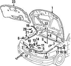 36 best v dub parts images on pinterest volkswagen beetles vw MK6 Golf GTI hood ponents for 2001 volkswagen passat