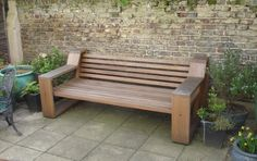Bancas de exterior on pinterest mexico city benches and for Bancas para jardin de madera
