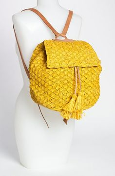 Mar y Sol 'Zadie' Raffia Backpack | Nordstrom So this is named for me! hahahahaha   I should get one,