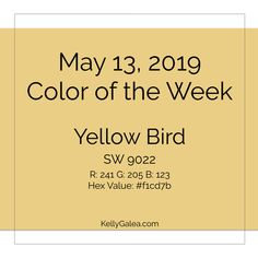 Your Color of the Week and forecast for the week of May 13, 2019. Remember our May forecast points about your cup o' J.O.E.? This week, focus on the JOY!