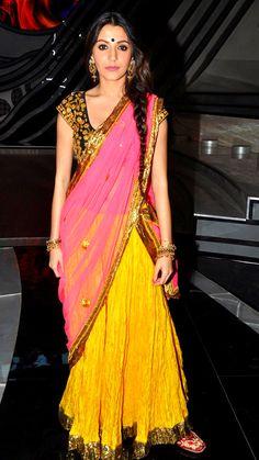 anushka sharma. Half saree