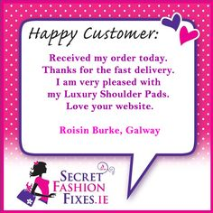 We get lots of emails from our happy customers which we so love. Thanks a million to Roisin for taking the time to pop us an email. If you would like to contact us our email address is info We'd love to hear from you. Thanks A Million, Customer Feedback, Email Address, Love You, Thankful, Pop, Happy, Te Amo, Popular