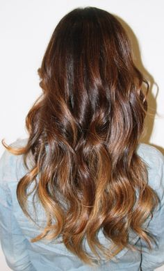 Ombre hair color, a little lighter at the tips... {love this look}