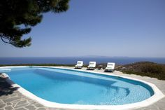 Villa Sifnos is a luxury villa rental with pool and sea view in Greece located in Sifnos Island, the (alleged) birthplace of Apollo and a lovely green Cycladic island Luxury Villas In Greece, Luxury Villa Rentals, Vacation Villas, Luxury Holidays, Outdoor Pool, Swimming Pools, Hot Tubs, Sea, Apollo