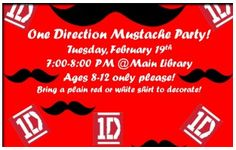 Library mustache party