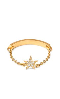Pave Star Chain Ring