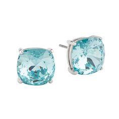 "These are the hottest selling earrings in our new Spring collection!! If you're looking for that perfect mixture of sophistication and what's on-trend, you've found it! Grab ""The Clara"" Stud Earrings with Light Turquoise Swarovski Crystals and you'll want to wear these with any outfits—from casual to date night looks. These earrings are simply ear-resistible! SO affordable!! #origamiowl"