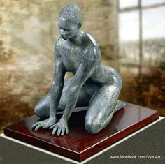 http://www.saatchiart.com/art/Sculpture-The-First-Rain-Little-nude-Kneeling-African-Girl-statue-statuette/791982/2494439/view