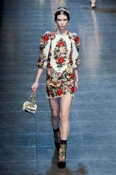 A look from the Dolce & Gabbana Fall 2012 RTW collection.