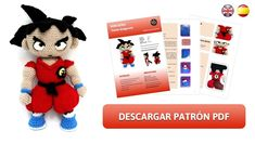 Amigurumi Patterns Archives - Page 2 of 3 - Sueños Blanditos Goku Dragon, Dragon Ball, Amigurumi Patterns, Crochet Patterns, Yarn Animals, Baby Looney Tunes, Japanese Symbol, Christmas Elf, Baby Disney