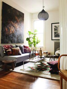 colour scheme / painting / rug / pillows / sofa / details