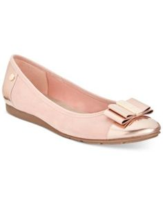 You can't go wrong with the classic, cute, and totally comfortable Aricia flats by Anne Klein. | Manmade upper; manmade sole | Imported | Round-toe slip-on flats  | Iflex Technology offers 90 degrees