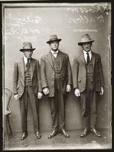 Vintage Australian mugshot, 1920s