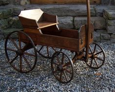 wooden vintage child's wagon   child antique child s daisy jr stenciled wood wagon with wooden spoke ...