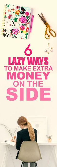 These 6 easy ways to make extra money on the side are THE BEST! I'm so happy I found this GREAT post! I've already tried one of them and I'm already making A TON of money each month! I'm SO pinning fo (Things To Try Saving Money) Work From Home Jobs, Make Money From Home, Way To Make Money, How To Make, Money Fast, Money Tips, Money Saving Tips, Money Plan, Money Hacks