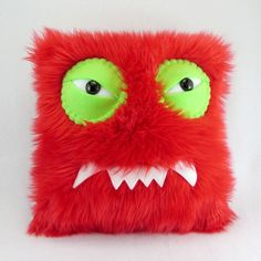 Monster Pillow by bearmojo on Etsy