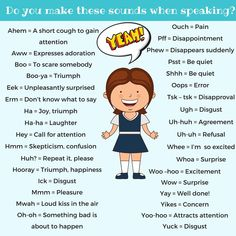 Common Expressions - Do You Make These Sounds When Speaking?