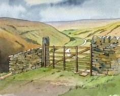 Yorkshire Dales Gate - sketch - John Edwards