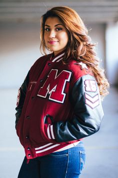 Senior Portrait / Photo / Picture Idea - Girls - Varsity Letter Jacket
