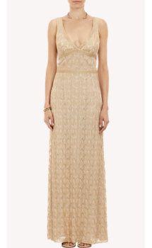 Missoni Metallic Lace-Knit Gown