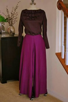 DIY palazzo pants and blouse