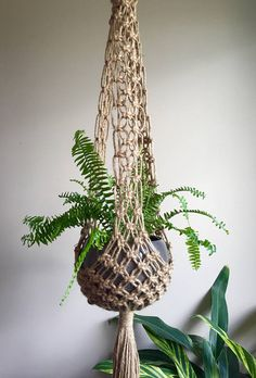 Boho Hippie Macramé Plant Hangers Retro 70s Collection