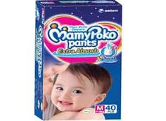 Mamy Poko Medium Size Baby Diapers (40 Count) At Rs.374