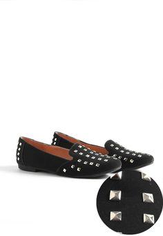 Heldin Suede Studded Slipper Shoes