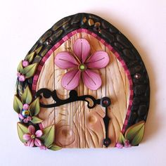 Flower Fairy Door Pixie Portal by Claybykim on Etsy, $20.00