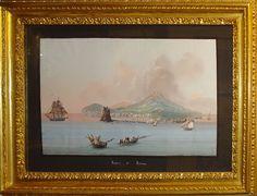Anonimo gouache Ischia tempera guazzo italia 1860