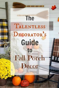 A little secret for you, straight from blogland: Anyone can look like they know exactly how to do it when it comes to Fall porch decor!
