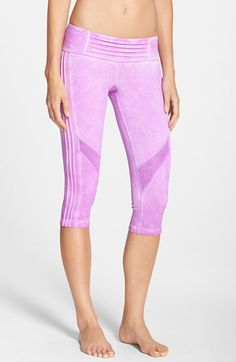 Pink Lotus 'Spark' Oil Washed Pintuck Capri Leggings available at #Nordstrom