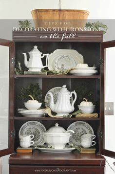 Tips for Decorating with Ironstone in the Fall