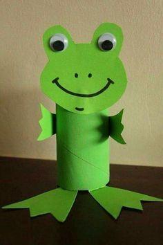 Frog Crafts, Paper Crafts For Kids, Craft Activities For Kids, Preschool Crafts, Diy For Kids, Easy Crafts, Decor Crafts, Craft Ideas, Project Ideas