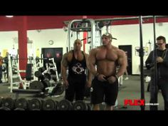 """Mamdouh """"Big Ramy"""" Elssbiay and Dennis James Chest Workout   03/02/2014"""