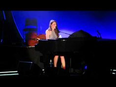 """Hear Sara Bareilles Perform Haunting Ballad """"She Used to Be Mine"""" from New Musical Waitress - Skip to a couple minutes in for the song."""