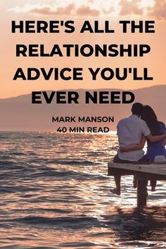 """Crowdsourced relationship advice from over 1,500 people who have been living """"happily ever after."""" Learn how they make it work. #markmanson #datingadvice #dating #relationshipadvice #relationships #selfhelp #personaldevelopment #love #datingcoach Relationship Advice Quotes, Wife Quotes, Marriage Relationship, Marriage Tips, Relationship Problems, Love Advice Quotes, Friend Quotes, Successful Relationships, Relationships Love"""