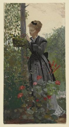 Winslow Homer Summer Gouache, watercolor, and graphite on cream wove paper 1955.1491