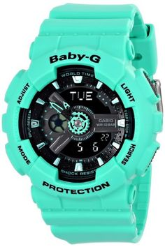 Now in stock Casio Women's BA-111-3ACR Baby-G Analog-Digital Display Quartz Green Watch