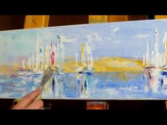 Palette Knife Painting a Seascape with Oilcolors Palet Knife Painting, Pallet Painting, Diy Painting, Oil Painting Techniques, Painting Videos, Abstract Landscape Painting, Abstract Art, Landscape Paintings, Ship Paintings