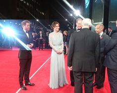 Duchess Kate on Twitter: World Premiere of Spectre, October 26, 2015-Prince Harry and the Duke and Duchess of Cambridge on the red carpet