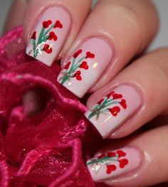Cute Valentines Day Nail Art Designs  | See more at http://www.nailsss.com/colorful-nail-designs/3/